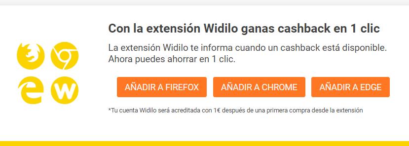 extension navegador widilo